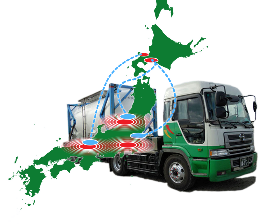 Sapporo City, Green Express Co., Ltd. transport, transport, logistics, warehouse, mixed transport, trailer transport, chilled transport, milk transport, sales warehouse, logistics processing, logistics solutions to real estate, vehicle maintenance, truck repair, personnel dispatch, farm, We are developing a wide range of businesses, including large and used truck sales. South based in Hokkaido, we propose various types of transportation services tailored to the needs of our customers to Kyushu.